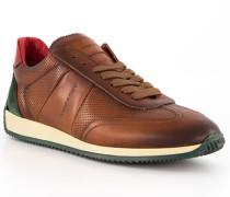 Schuhe Sneaker, Leder, testa di moro