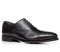 Herren Schuhe Budapester Kalbleder dunkelbraun braun,braun