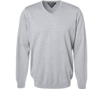 Pullover Wolle hell meliert