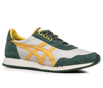 Herren Schuhe Sneakers Veloursleder-Textil-Mix gelb-grün
