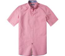 Herren Hemd, Modern Fit, Baumwolle, lachs rot