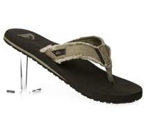 Schuhe Zehensandalen Canvas oliv
