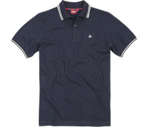 Herren Polo-Shirt Baumwoll-Piqué navy