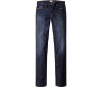 Herren Jeans, Regular Fit, Baumwoll- Stretch, indigo blau