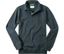 Herren Polo-Shirt Baumwolle dunkelblau