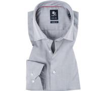 Herren Hemd, Modern Fit, Popeline, grau