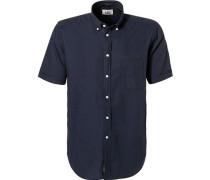 Kurzarmhemd, Regular Fit, Baumwolle, dunkel