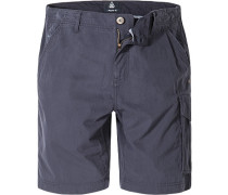 Herren Hose Shorts Regular Fit Baumwoll-Mix navy