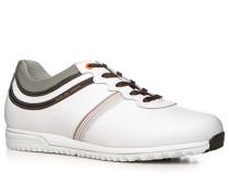 Herren Golfschuhe Leder wasserabweisend weiß weiß,grau