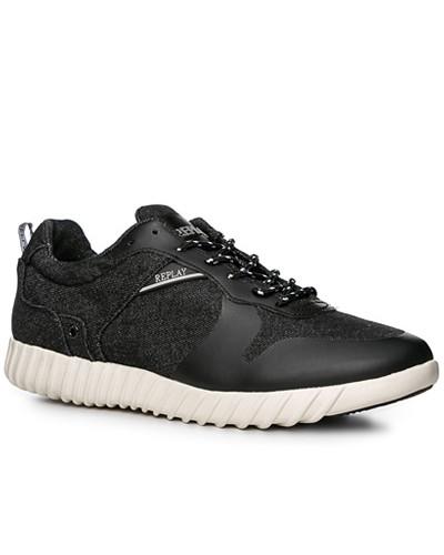 Replay Herren Schuhe Sneaker, Textil, navy