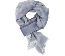 Herren Schal, Baumwolle, blau camouflage