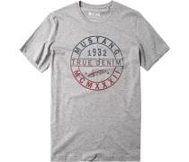 Herren T-Shirt Baumwoll-Mix gemustert