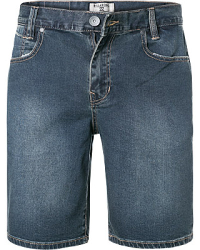 Jeansshorts, Slim Fit, Baumwoll-Stretch, dunkel