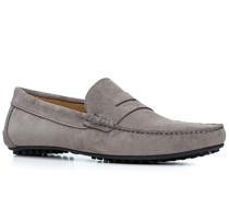 Herren Schuhe Loafers Veloursleder grau