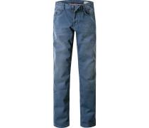 Herren Jeans Modern Fit Baumwoll-Mix blau