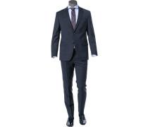 Herren Anzug, Comfort Fit, Schurwolle Super100, nachtblau kariert