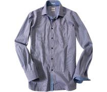 Hemd Modern Fit Baumwolle -weiß gemustert