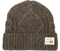 Herren   Mütze Woll-Mix graubraun