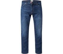 Jeans Greensboro, Regular Straight, Baumwoll-Stretch