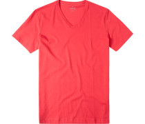 Herren T-Shirt Baumwolle koralle meliert