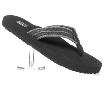Herren Schuhe Zehensandale Canvas grau-schwarz