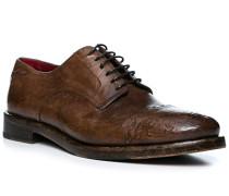 Schuhe Derby Leder taupe