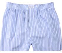 Herren Unterwäsche Boxershorts Baumwolle hell-weiß gestreift