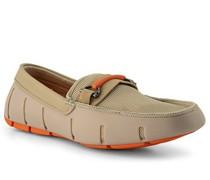 Schuhe Loafer Kautschuk-Textil khaki