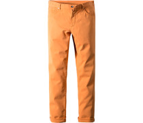 Herren Jeans Regular Fit Baumwoll-Stretch orange