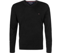 Herren Pullover, Wolle, schwarz