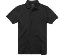 Herren Polo-Shirt Baumwolle schwarz
