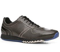 Herren Schuhe Sneaker Kalbleder grau gemustert grau,grau,schwarz