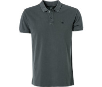 Herren Polo-Shirt Baumwolle anthrazit grau