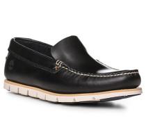 Schuhe Mokassin Leder navy