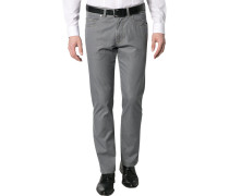Herren Jeans Regular Fit Baumwoll-Mix grau