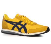 Herren Schuhe Sneaker Veloursleder-Textil -blau