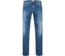 Herren Jeans, Slim Fit, Baumwoll-Stretch, blau