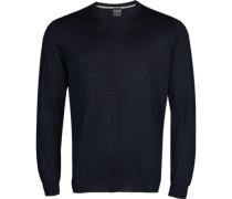 Herren Pullover, Modern Fit, Merinowolle, dunkelblau