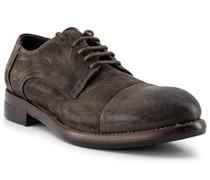 Schuhe Derby Nubukleder dunkel