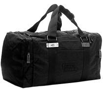 Herren Sporttasche, Microfaser, schwarz