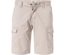 Herren Hose Shorts, Baumwolle, hellbeige