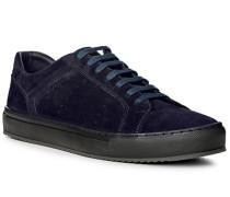 Herren Schuhe Sneaker, Verloursleder, navy blau