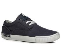 Herren Schuhe Sneaker, Canvas, graublau