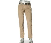Herren Hose Golf-Chino Regular Slim Fit Baumwoll-Stretch sand beige