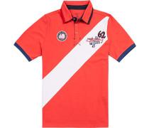 Herren Polo-Shirt, Baumwolle, rot