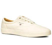 Herren Schuhe Sneaker, Textil, creme weiß