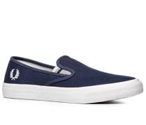 Herren Schuhe Slip Ons Canvas navy