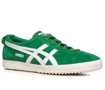 Herren Schuhe Sneaker Veloursleder grün