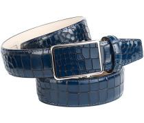 Herren Gürtel blau, Breite ca. 3,5 cm