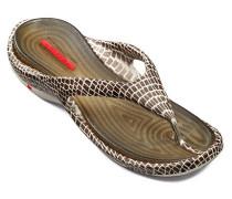 Herren Schuhe BEACH, Gummi, braun-ecru